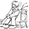 Pulling the Plug on the Television clipart