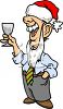 Drunk Businessman at an Office Christmas Party clipart