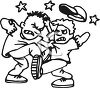 Two Boys Fighting clipart