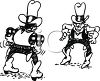 Two Cowboys in a Gun Fight clipart