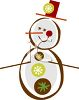 Stylized Snowman for Christmas Card Design clipart