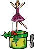 Christmas Ballerina Music Box clipart