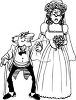 Old Man Marrying Young Lady clipart