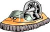 Swamp Transportation Airboat clipart