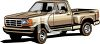 Step-Side Style Pick Up Truck clipart