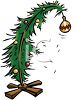 Sad Little Christmas Tree clipart