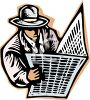 Businessman Reading the Newspaper clipart