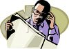 Black Businessman Reading the Newspaper clipart