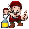 Christmas Elf Holding a Lantern clipart