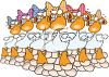Twelve Days of Christmas Song-Six Geese A-Laying clipart