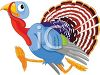 A Thanksgiving Turkey Running Away clipart