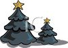 Christmas Trees in the Woods clipart