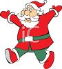 Happy Cartoon Santa clipart