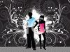 Stylish Young Couple at a Disco clipart