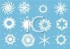 Collections of Snowflake Shapes clipart