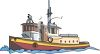 Realistic Tugboat Drawing clipart