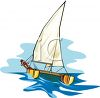 Person on a Catamaran Sailing clipart