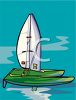 Catamaran Sailboat clipart