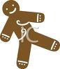 Simple Gingerbread Man Cookie clipart