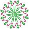 Simple Christmas Wreath Made of Holly clipart