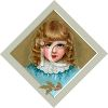 Little Victorian Girl with Golden Ringlets  clipart