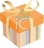 Gift Box Tied with a Ribbon clipart