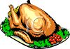 Baked Turkey on a Platter clipart