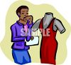 Fashion Clothes Designer with Mannequin clipart