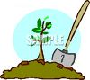 Planting a Sapling for Arbor Day clipart