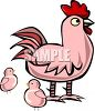 Mother Hen and Her Chicks clipart