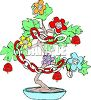 Bonsai Tree Decorated for the Holidays clipart