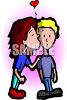Girl with a Crush on a Boy clipart