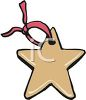 Star Shaped Christmas Ornament clipart