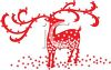 Stars Around a Reindeer Christmas Design clipart