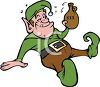 Cartoon of a Drunk Elf clipart