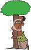 African American Tree Hugger Environmentalist clipart
