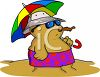 Sand Snowman at the Beach clipart