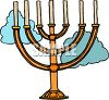 Menorah with Unlit Candles clipart
