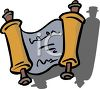 Cartoon Torah Jewish Hanukkah Scroll clipart