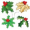 Collection of Christmas Holly clipart