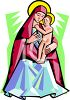 The Virgin Mother Mary with Baby Jesus clipart