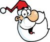 Cartoon Santa clipart