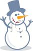 Snowman with Carrot Nose clipart