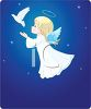 Christmas Angel with Dove of Peace clipart
