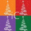 Digital Collection of Christmas Tree Tiles clipart