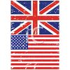 British and American Flags in a Grunge Style clipart