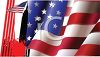 Waving American Flag Background clipart