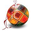 Plaid Christmas Ornament clipart