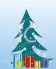 Decorated Christmas Tree with Presents clipart