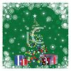 Snow Falling on a Christmas Tree and Gifts clipart